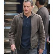 Jason Bourne Matt Damon Brown Jacket