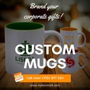 Custom Stamped Mugs    Boxmark