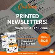 Custom printed newsletters